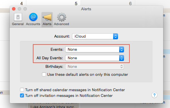 mac calendar all day events